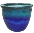 Blue glazed pot